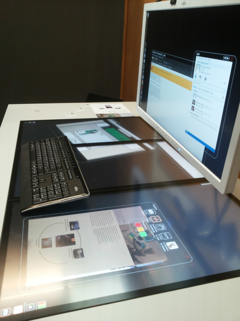 Inteligent Desk от Fujitsu (Forum 2013, Munich, Germany)