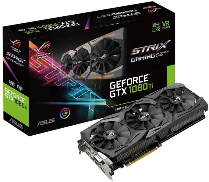 ASUS ROG STRIX GeForce GTX 1080 TI 11GB – скоро на склад